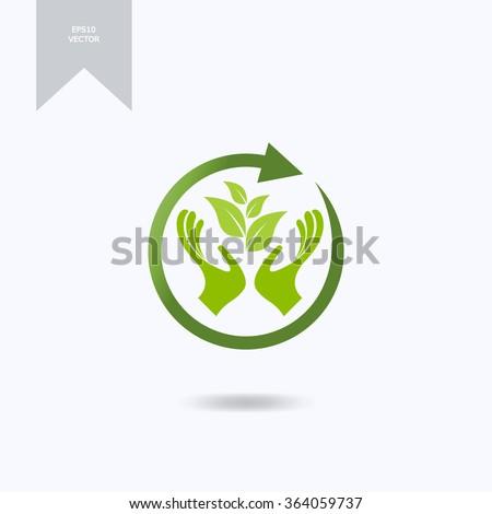 Organic farming logo design idea. - stock vector