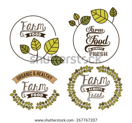 Organic Food design over white background, vector illustration - stock vector
