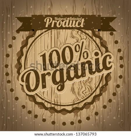 organic labels - stock vector