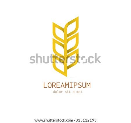 Organic product logo design vector template. Agricultural Logotype concept. - stock vector