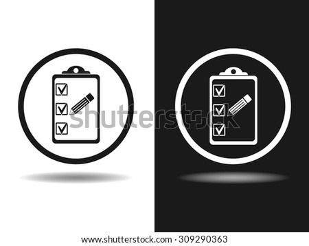 Organiser and pencil vector icon. Flat design style - stock vector