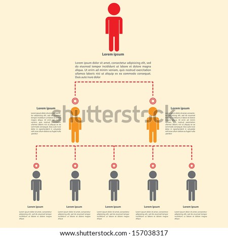 Organization chart infographics design, VECTOR, EPS10 - stock vector