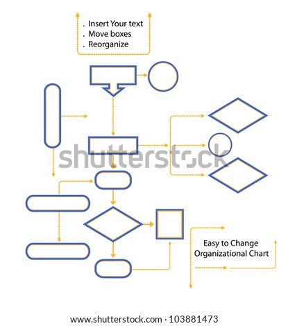 Organizational chart - easy to make changes - stock vector