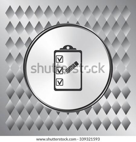 Organizer and pencil vector icon. Flat design style - stock vector
