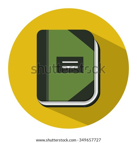 organizer planner book flat icon - stock vector