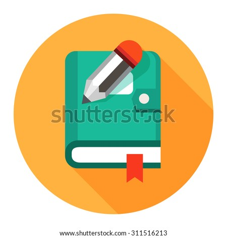 organizer planner book icon - stock vector