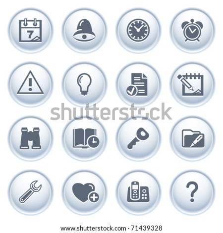 Organizer web icons on buttons. - stock vector