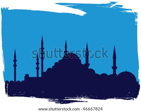 oriental cityscape - stock vector