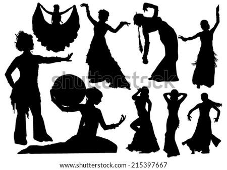 Oriental Dance - stock vector
