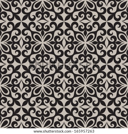 Oriental pattern, seamless texture - stock vector
