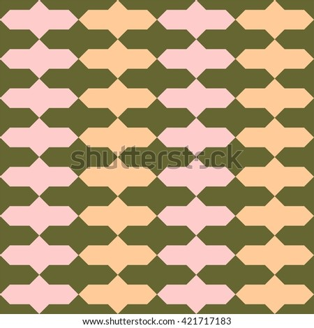 Oriental tiling pattern, seamless vector pattern, abstract geometric pattern - stock vector