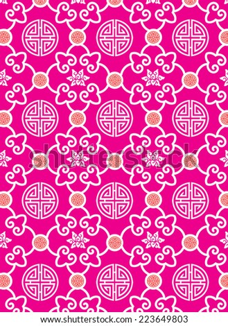Oriental traditional background pattern design (vector) - stock vector