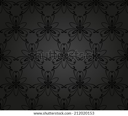 Oriental vector pattern with damask, arabesque and floral elements. Seamless abstract background - stock vector