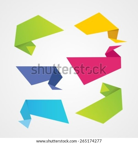 Origami banner - stock vector