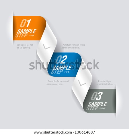 Origami design element. Fully editable vector. - stock vector