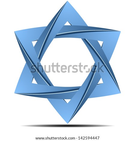 Origami star - stock vector