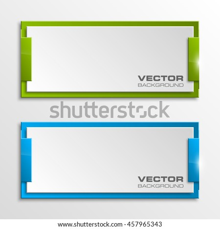 Origami vector banner. The original form as two squares, overlapping. The flat image. Advertising Design shape. Vector label tag. - stock vector