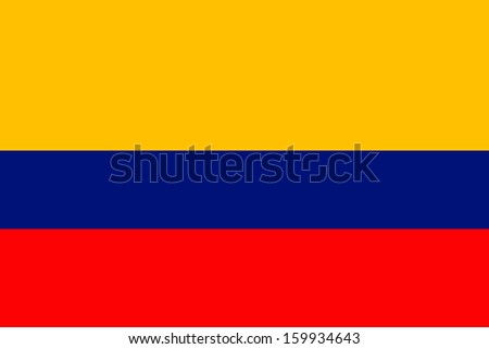 original and simple Colombia flag isolated vector in official colors and Proportion Correctly - stock vector
