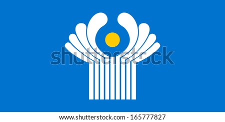 original and simple Commonwealth of Independent States flag (CIS)  isolated vector in official colors and Proportion Correctly - stock vector