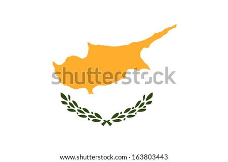 original and simple Cyprus flag isolated vector in official colors and Proportion Correctly - stock vector