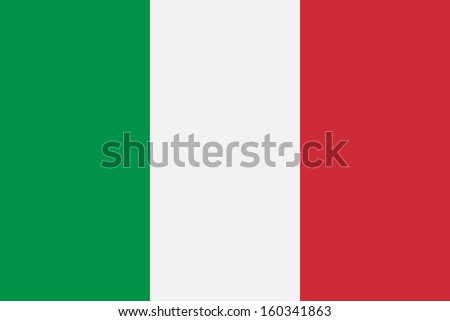 original and simple Italy flag isolated vector in official colors and Proportion Correctly - stock vector