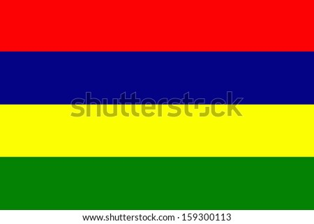 original and simple Mauritius flag isolated vector in official colors  and Proportion Correctly - stock vector