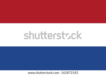 original and simple Nederlands, Netherlands or Holland flag isolated vector in official colors and Proportion Correctly - stock vector