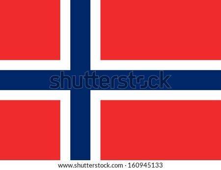 original and simple Norway flag isolated vector in official colors and Proportion Correctly - stock vector