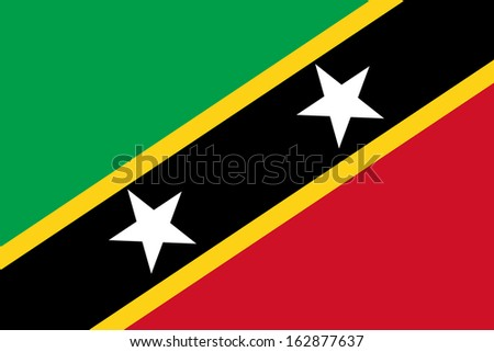 original and simple Saint Kitts and Nevis flag isolated vector in official colors and Proportion Correctly - stock vector