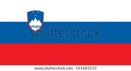 original and simple Slovenia flag isolated vector in official colors and Proportion Correctly - stock vector