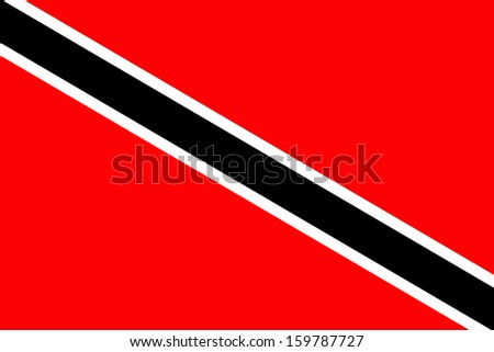 original and simple Trinidad and Tobago flag isolated vector in official colors and Proportion Correctly - stock vector