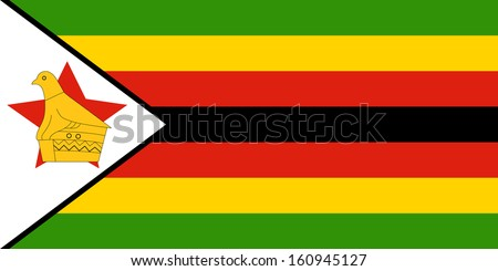 original and simple Zimbabwe flag isolated vector in official colors and Proportion Correctly - stock vector