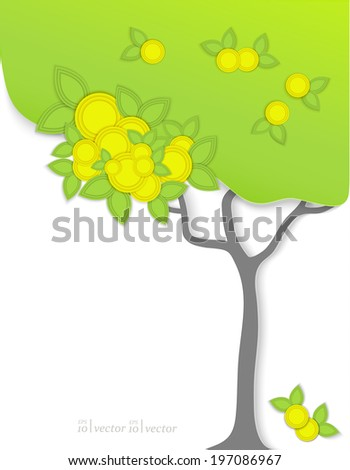 Original background,art tree for your design  - stock vector