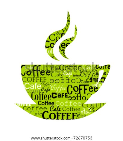 Original coffee cup design. Vector illustration - stock vector