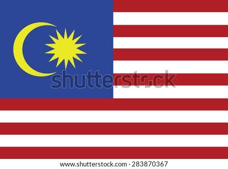 original Flag of  Malaysia - stock vector