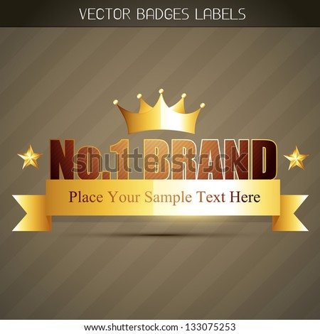 original no. 1 brand product label - stock vector