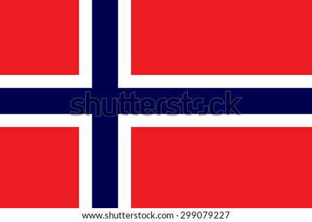 Original Norway flag vector in official format and true colors. - stock vector