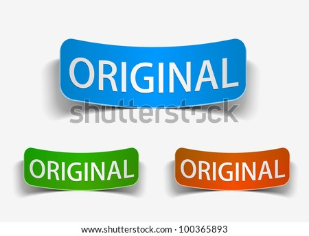 original product promotion vector label & sticker. - stock vector