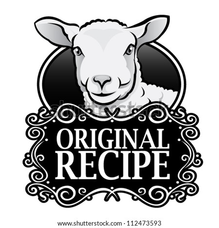 Original Recipe Lamb Royal Seal, Badge - stock vector