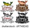 Original Recipe Seal Fish version - stock vector