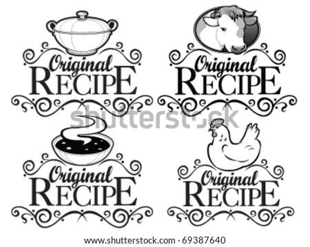 Original Recipe Seals Collection - stock vector