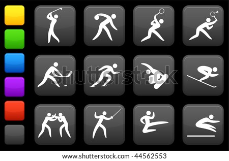 Original vector illustration: competitive and olympic sports icon collection - stock vector