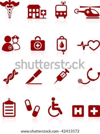 Original vector illustration: medical hospital  internet icon collection - stock vector