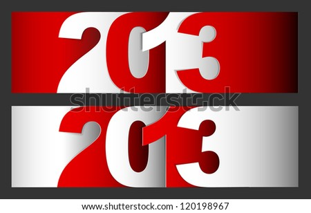 Original Vector New Year 2013 card / illustration with place for your text - stock vector