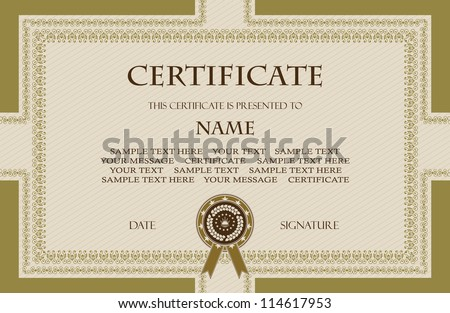 Original vintage frame. Can be used as a diploma or certificate - stock vector