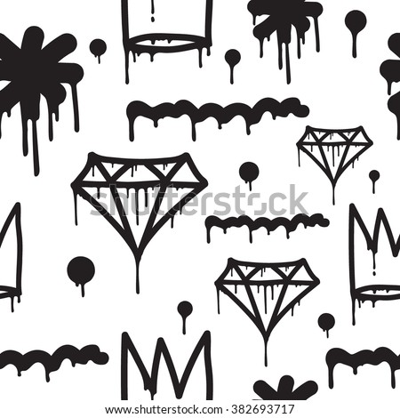 Original youth seamless patterns, repeating image for using pattern on any items, T-shirts, wallpaper, curtains. - stock vector