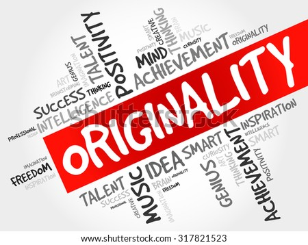 Originality word cloud, business concept - stock vector