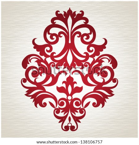 Ornament in Victorian style with space for your text. Element for design. It can be used for decorating of invitations, cards, decoration for bags and at tattoo creation. - stock vector