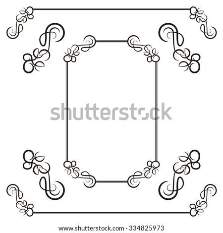 Ornament ruffled - stock vector