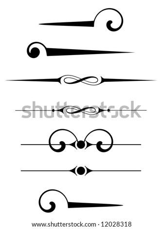 Ornament Rules Design - stock vector